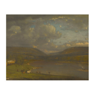 George Inness - On the Delaware River Wood Prints