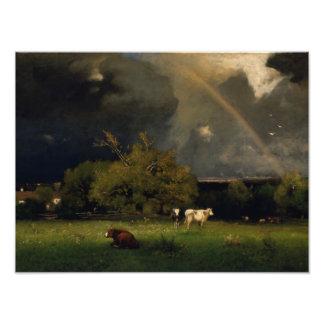 George Inness - The Rainbow Photo Art