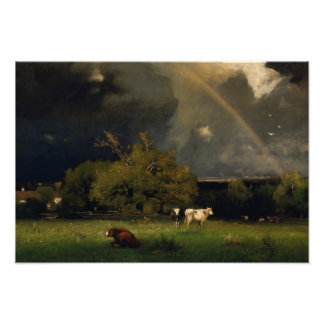 George Inness - The Rainbow Photograph