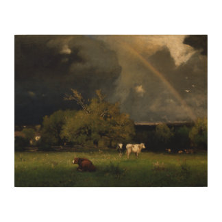 George Inness - The Rainbow Wood Canvas