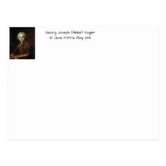 George Joseph (Abbe) Vogler Postcard