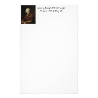 George Joseph (Abbe) Vogler Stationery