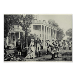 George & Martha, Mount Vernon Invitation/Note Card