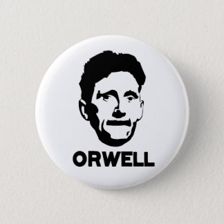 George Orwell 6 Cm Round Badge