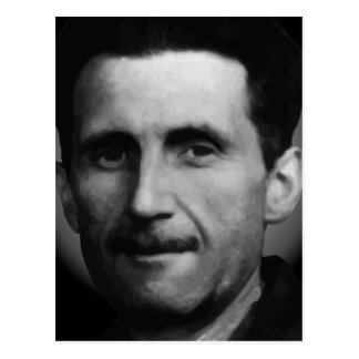 George Orwell Portrait Vector Art Postcard