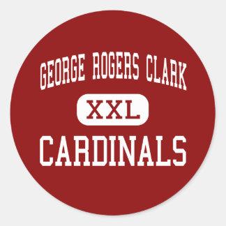 George Rogers Clark - Cardinals - Winchester Round Sticker