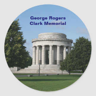 George Rogers Clark Memorial Round Sticker