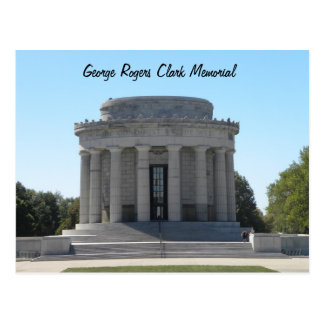 George Rogers Clark Memorial  ~ Vincennes, Indiana Postcard