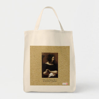 """George Sand """"One Happiness"""" Canvas Tote Bag"""
