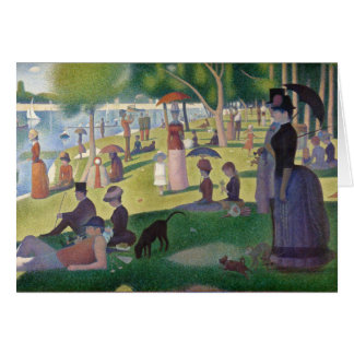 GEORGE SEURAT - A  sunday afternoon 1884 Card