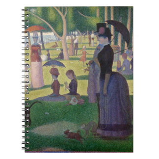GEORGE SEURAT - A  sunday afternoon 1884 Spiral Notebook