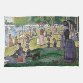 GEORGE SEURAT - A  sunday afternoon 1884 Tea Towel