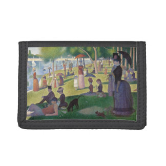 GEORGE SEURAT - A  sunday afternoon 1884 Tri-fold Wallet