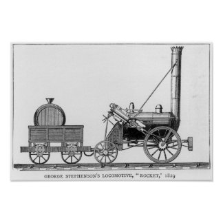 George Stephenson's Locomotive, 'Rocket', 1829 Poster