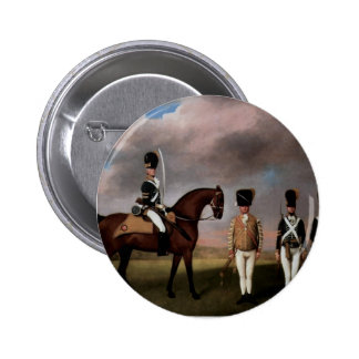 George Stubbs- Soldiers of 10th Dragoon Regiment Pinback Buttons
