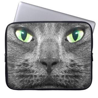 George super-real grey cat laptop sleeve