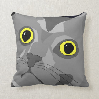 George the cat funky pop art-style cushion