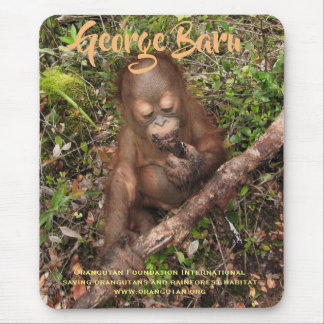 George the rescued Orangutan Orphan Mouse Pad