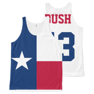 George W Bush 43rd President Texas Flag All-Over Print Singlet