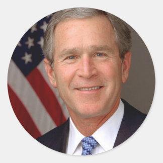 George W. Bush Classic Round Sticker