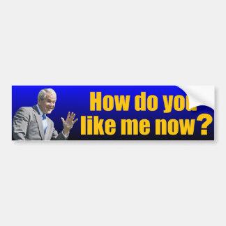 George W. Bush: How do you like me now? Bumper Sticker
