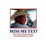 George W Bush - Miss Me Yet Postcard