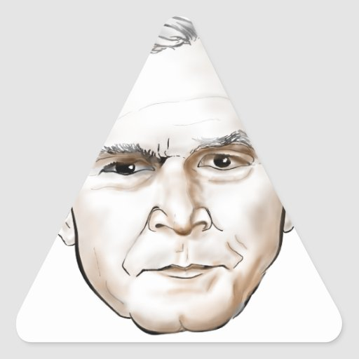 George W Bush.png Triangle Stickers
