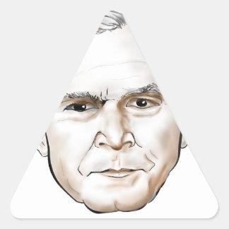 George W Bush.png Triangle Sticker