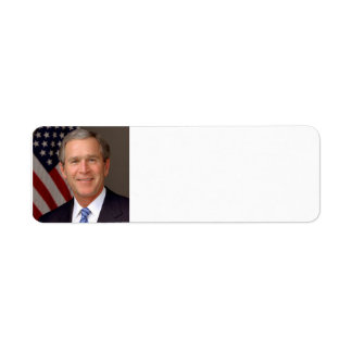 George W. Bush Return Address Label