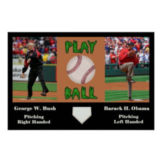 George W Bush vs Barack H Obama Poster