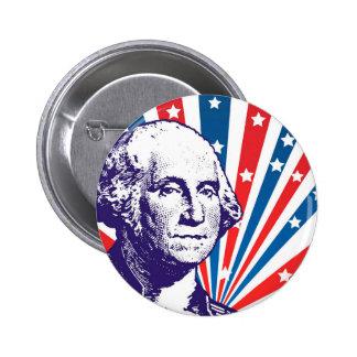George Washington 6 Cm Round Badge
