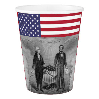 George Washington Abraham Lincoln American Flag