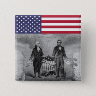 George Washington Abraham Lincoln Patriots USA 15 Cm Square Badge