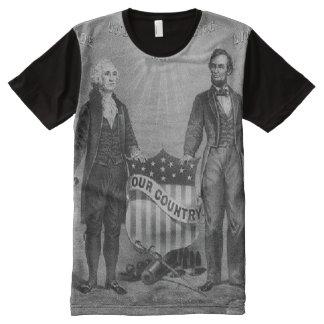 George Washington Abraham Lincoln USA American All-Over Print T-Shirt