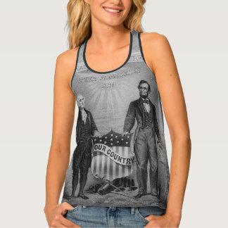 George Washington Abraham Lincoln USA American Singlet