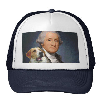 "George Washington and his dog ""Liberty Belle"" Trucker Hat"