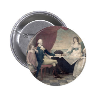 George Washington and His Family button