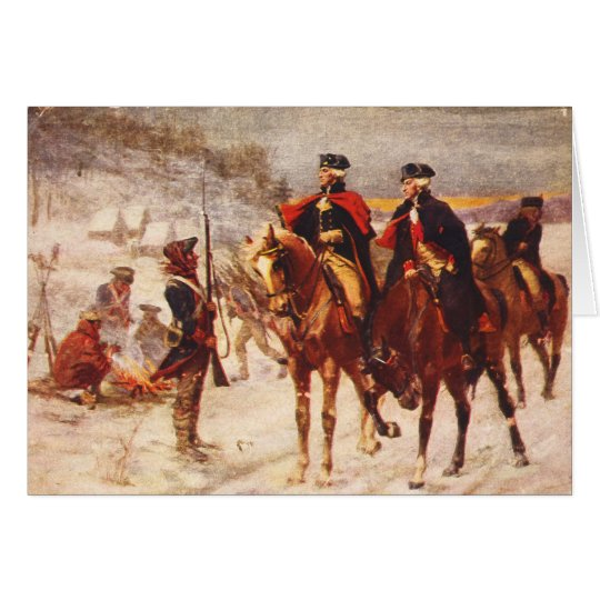 George Washington and Lafayette at Valley Forge Card
