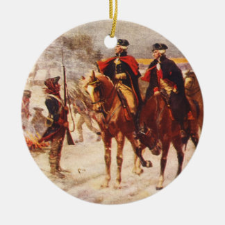George Washington and Lafayette at Valley Forge Ceramic Ornament