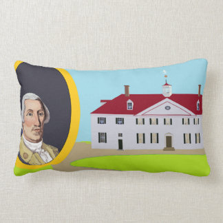 George Washington and Mt Vernon Lumbar Cushion