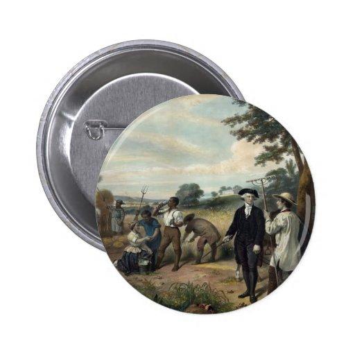 George Washington as a Farmer button