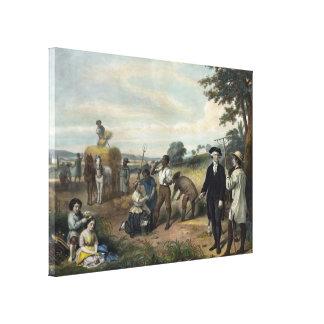 """""""George Washington as a Farmer"""" canvas print"""