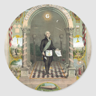 George Washington as a Freemason Classic Round Sticker