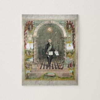 George Washington as a Freemason Jigsaw Puzzle