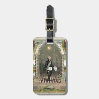 George Washington as a Freemason Luggage Tag