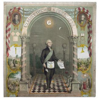 George Washington as a Freemason Napkin