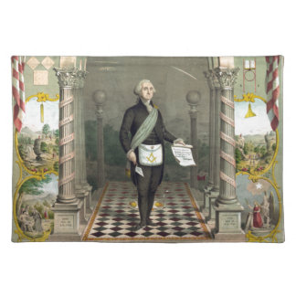 George Washington as a Freemason Placemat