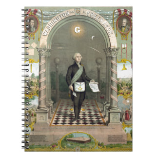 George Washington as a Freemason Spiral Notebook