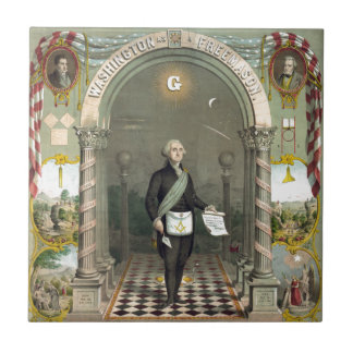 George Washington as a Freemason Tile
