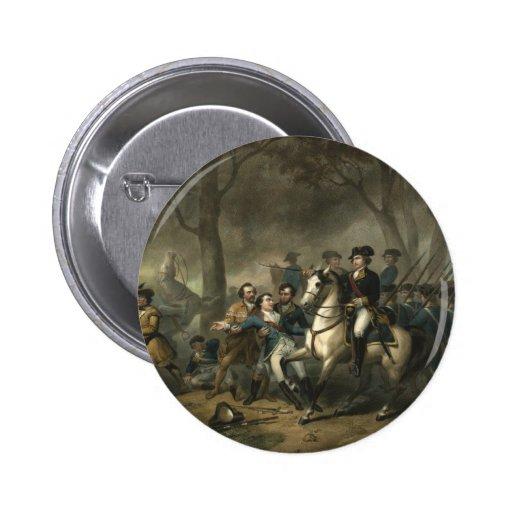 """George Washington as a Soldier"" button"